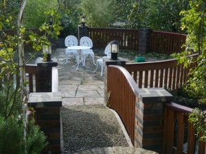 south london garden decking