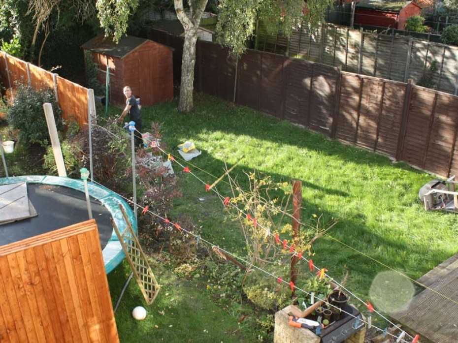 Rebuild of New Fence by Sage Gardens and Landscapes London