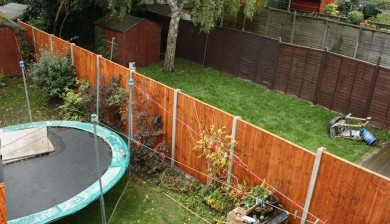 Fence rebuild by Sage Gardens and Landscapes London
