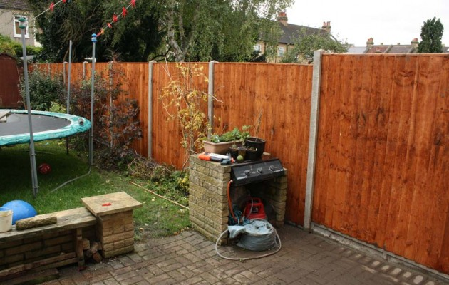 Fence rebuilt by Sage Gardens and Landscapes London