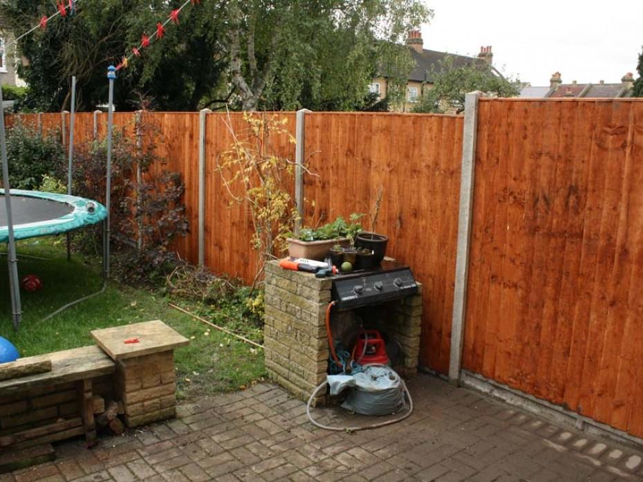 Fence rebuilt by Sage Gardens and Landscapes London